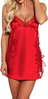 Best red nightgown plus size Reviews