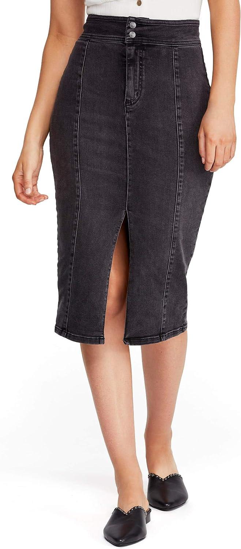 Free People Womens Maddie Denim Skirt