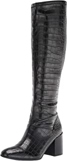Franco Sarto Women's Tribute Knee High Boot, Black Crocco Faux Leather, 9 Wide