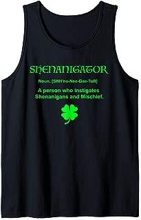 Shenanigator Irish Shenanigans Clover Saint Patrick Day Gift Tank Top
