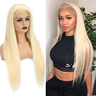 Sponsored Ad - 613 Blonde Lace Front Long Silky Straight Wig 30Inch 13X4 #613 Front Lace Wigs For Women Pre Plucked With B...