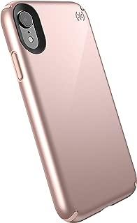 Speck Products Presidio Metallic iPhone XR Case, Rose Gold Metallic/Dahlia Peach