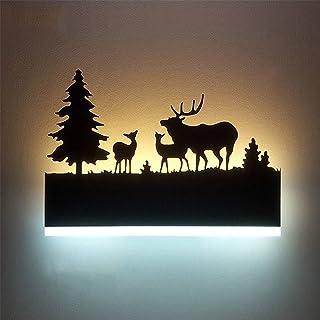 Augrous Applique LED Up et Vers le bas Lampe Murale intérieur Le fer Lumière Corps Cerf Conception pour Bar Couloir Décora...