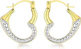 0.4 Gr Or Bicolore 375//1000 Carissima Gold Boucle dOreilles Femme 9 Cts