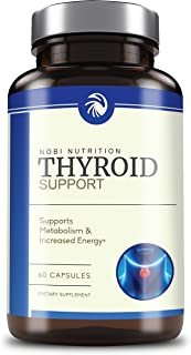 Thyroid Support with Iodine - Energy, Metabolism & Focus Formula - Pure Natural Ingredients Like Magnesium, Ashwagandha, Vitamin B-12 & More! - Non-GMO Supplement, 60 Capsules