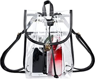 Heavy Duty Clear Backpack Stadium Security Approved Mini Drawstring Bag