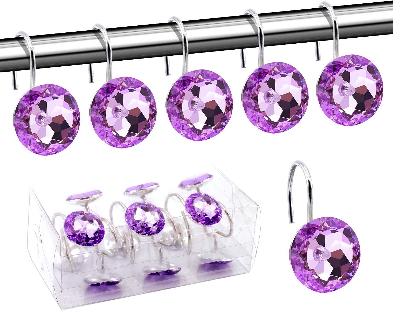 BEAVO Acrylic Limited time sale Fashion Decorative Home Rolling Cheap SALE Start Purple Shower Curt