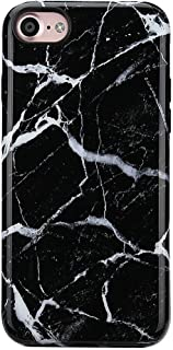 iPhone 8 Marble Case/iPhone 7 Case for Girls,GOLINK Glossy Marble Series Slim-Fit Ultra-Thin Anti-Scratch Shock Proof Dust Proof TPU Gel Case for iPhone 7/8 - Black Marble
