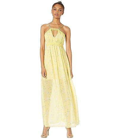 BCBGeneration Lace Trim Maxi Dress TWW6196478 (Banana) Women