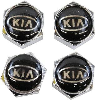 Genuine Kia Accessories UM011-AY0BK Silver Valve Stem Cap with Kia Logo