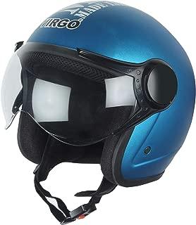 Virgo helmet ISI Certified BLT Color Blue Matt finish Clear visor