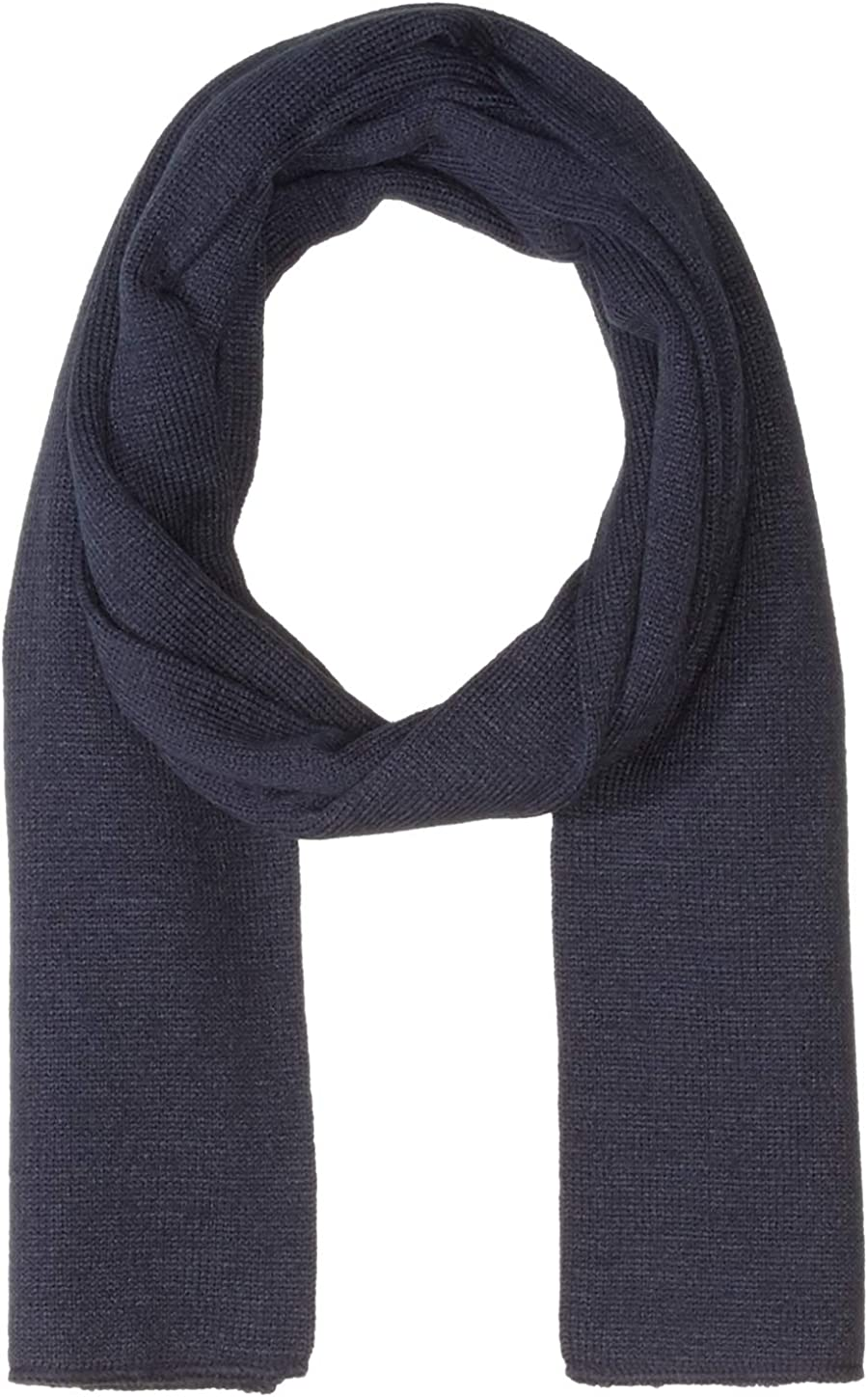 Clementine Apparel Men's Soft Warm Knitted Winter Scarf (Pack of 6), Navy, One Size