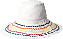 CTH8264 - Bucket Hat with Ric Rac Trim and Fray Edge