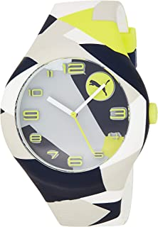 PUMA Form XL Men's Quartz Watch with Black Dial Analogue Display and Black Silicone Strap