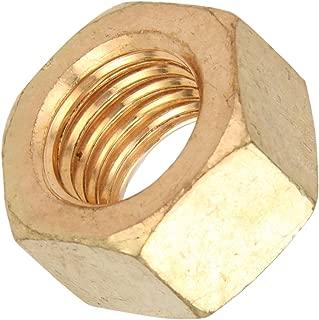 Silicon Bronze Hex Nut, Plain Finish, ASME B18.2.2, 1/4