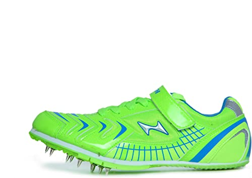 HEALTH 611 1 Breathable Mesh and PU Long Jump Shoes Size UK 8 5 1 Pair Green