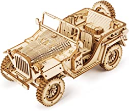 ROKR 3D Wooden Puzzle for Adults-Mechanical Car Model Kits-Brain Teaser Puzzles-Vehicle Building Kits-Unique Gift for Kids...