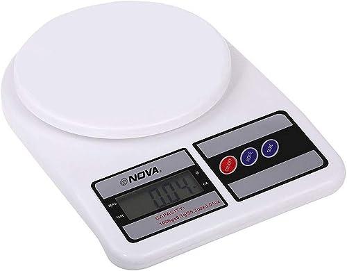 NOVA KS 1329 Plastic Electronic Digital Kitchen Weighing Scale 10 Kg White