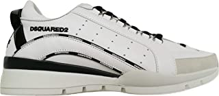 Dsquared Scarpe Uomo Low Top 551 Sneakers in Pelle SNM0122 01503113 M072 Bianco