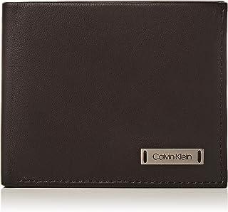 Calvin Klein Smooth W Plaque Slimfold 6cc, Porte-Cartes de crédit Homme, Noir (Black), 0.1x0.1x0.1 cm (B x H T)