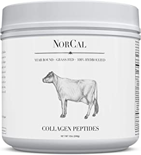 Norcal Organics Grass-Fed Collagen Peptide Hydrolysate Powder, 12oz   20g Protein   Hydrolyzed Keto Supplements Protein Production for Strong Healthy Bones, Joints, Cartilage & Tendons