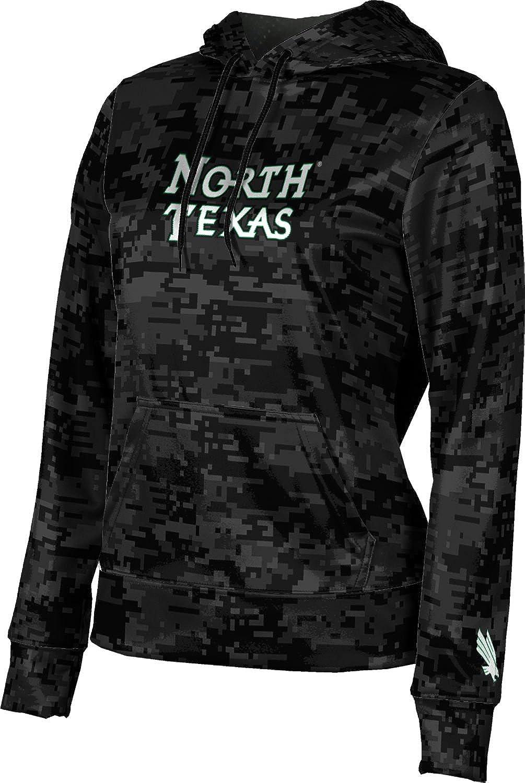 University of North Texas Girls' Pullover Hoodie, School Spirit Sweatshirt (Digi Camo)