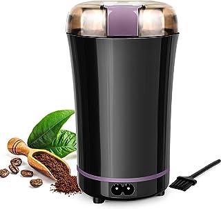 POWERAXIS Kaffekvarn elektrisk, 300 W bärbar och tvättbar elektrisk spannmålskvarn med blad av rostfritt stål, för malning...