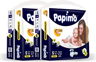 Papimo Baby Diaper Pants with Aloe Vera, Monthly Box Pack, S (156 Count)