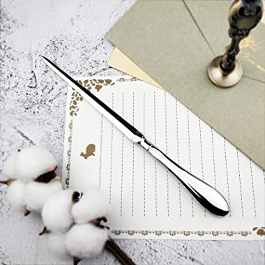 Familion Silvery Letter Opener, Envelope Opener Knife Metal Letter Opening Knife, Paul Revere Paper Cutting Knife, 9 inches (