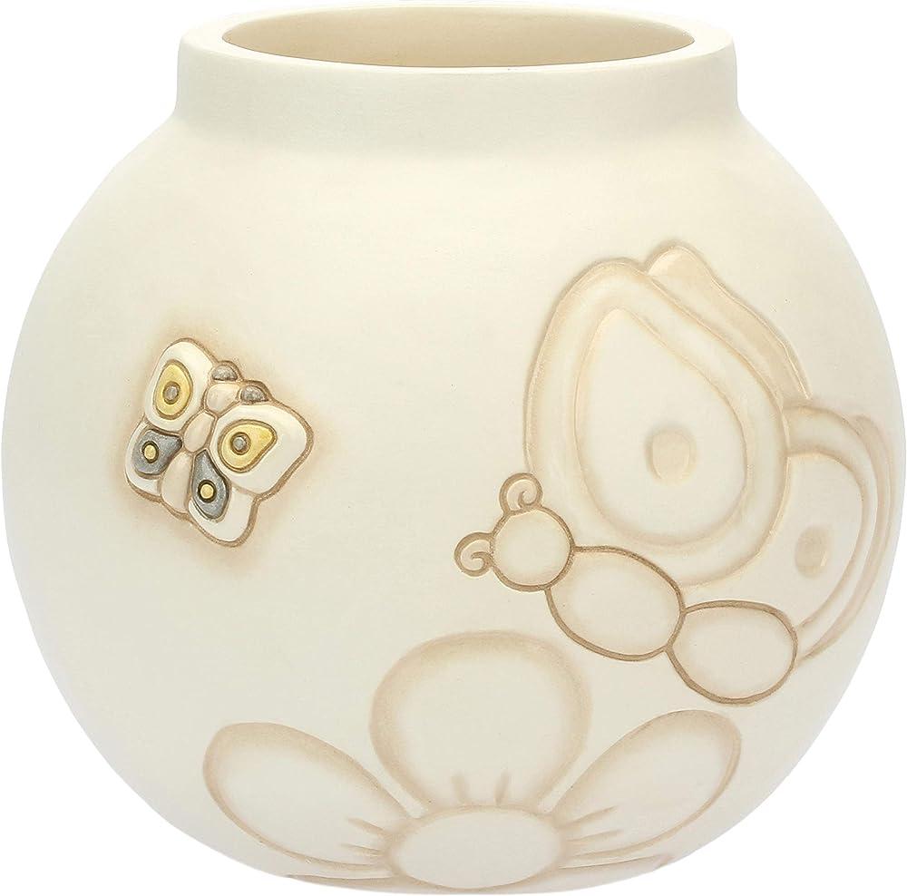 Thun - vaso in ceramica , 14,8x14,8x13,6 cm h , dipinto a mano