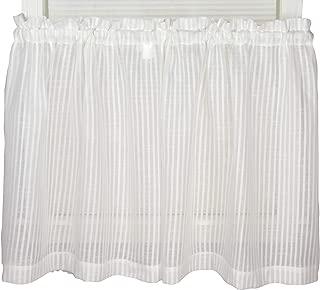 Bay Breeze Semi Sheer Stripe Tier Curtain 72