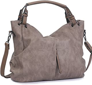 d13e007db3 Handbags for Women WISHESGEM Large Capacity Ladies Hobo Purses Top Handle  PU Leather Shoulder Bags