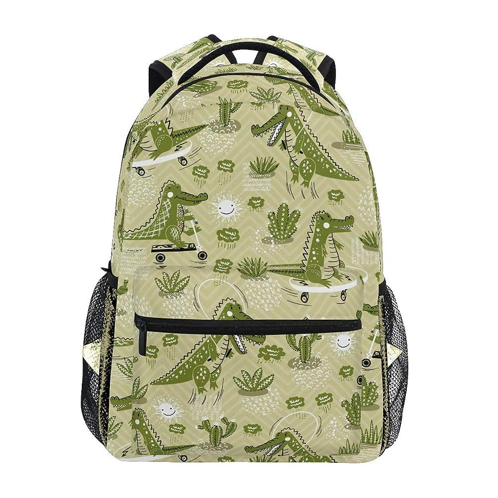 Pfrewn Summer Dinosaur Palm Leaves Backpack Bookbags Daypack Bags Water Resistant, Tropical Animal Bag Mini Backpack Purse Travel Sports for Men Women