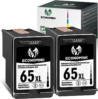 Economink Remanufactured Ink Cartridge Replacement for HP 65 65XL 65 XL Black for Envy 5052 5055 5012 5010 5020 5030 DeskJ...
