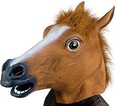 Oalas Mask Collection,Costume Party Latex Animal Head Mask, Unicorn,House,Giraffe,Piegon,Zebra