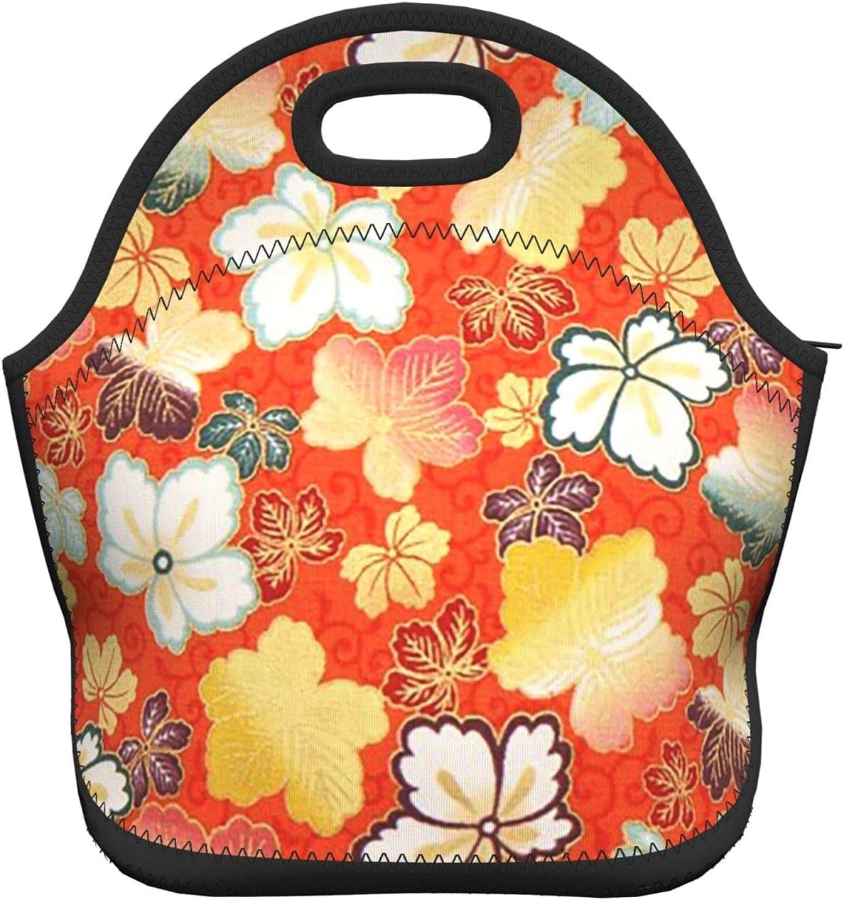 Work lunch bags Branded goods for women Orange New arrival Japan flower Asia Sakura Lunch