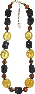 Venetiaurum - Collana Girocollo per Donna con Perle in Vetro Originale di Murano e Argento 925 - Gioiello Made in Italy Ce...