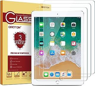 "[3 Pack] iPad 9.7 6th Generation Screen Protector, OMOTON Tempered Glass Screen Protector for Apple iPad 9.7"" (2018 & 2017) / iPad Pro 9.7 Inch / iPad Air 2 / iPad Air 9.7 Inch"
