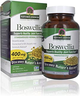 Nature's Answer Boswellia Extract Vegetarian Capsules, 90-Count | Joint & Muscle Support | Promotes Digestion | Helps Resp...