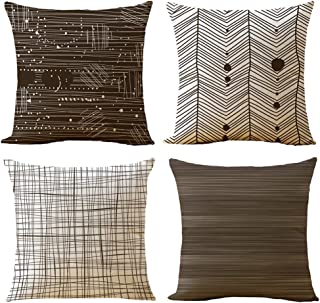 brown and tan couch pillows