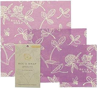 """Bee""""s Wrap Wachspapier, Set mit 3 Stück, Verschiedene Größen, Violett"""