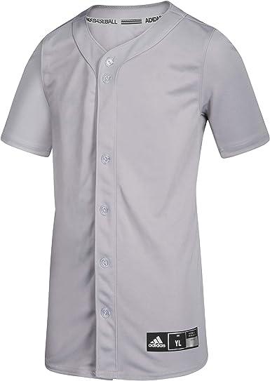 adidas Diamond King Elite Full Button Jersey - Junior's Baseball