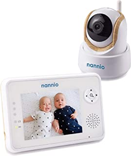 "Nannio Comfy 3.5"" Video Wood Grain Design Baby Monitor with Enhanced Super Night Vision Camera, Two-Way Talk, Lullabies,Fe..."