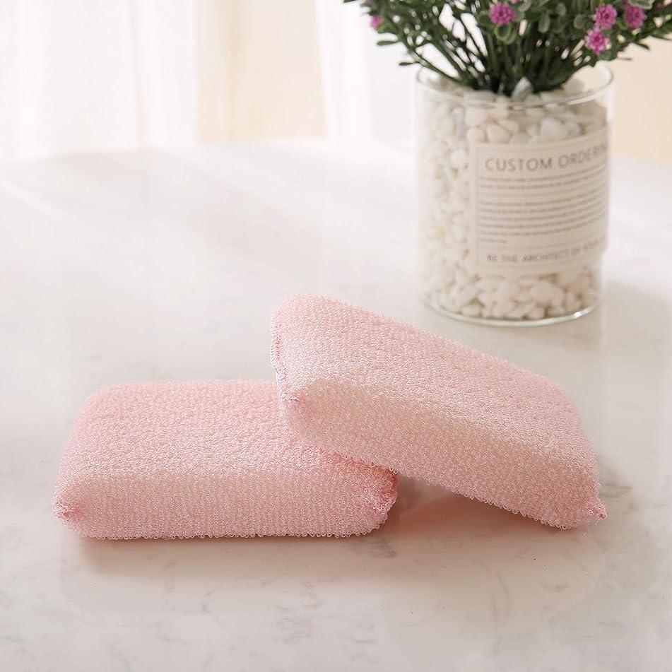 Deconovo Natural Loofah Exfoliating Bath Sponge Durable Body Wash Exfoliation Deep Cleansing Shower Scrubber for Men & Women, Pink, 1 lb