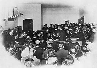 Louis Riel (1844-1885) Ncanadian Insurgent Leader Riel Addressing The Jury During His Trial For Treason At Regina Saskatch...