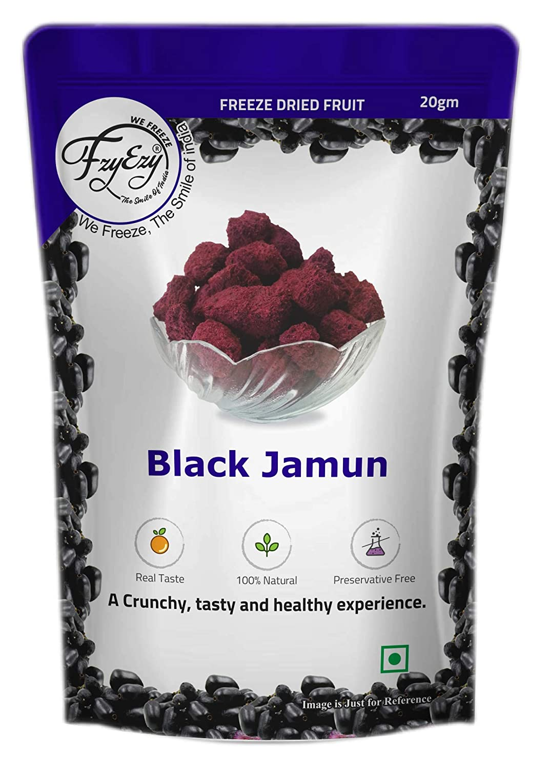 FZYEZY Freeze Dried Black Jamun Great interest Fruit for Kids Adults Vegan Ranking TOP15 and