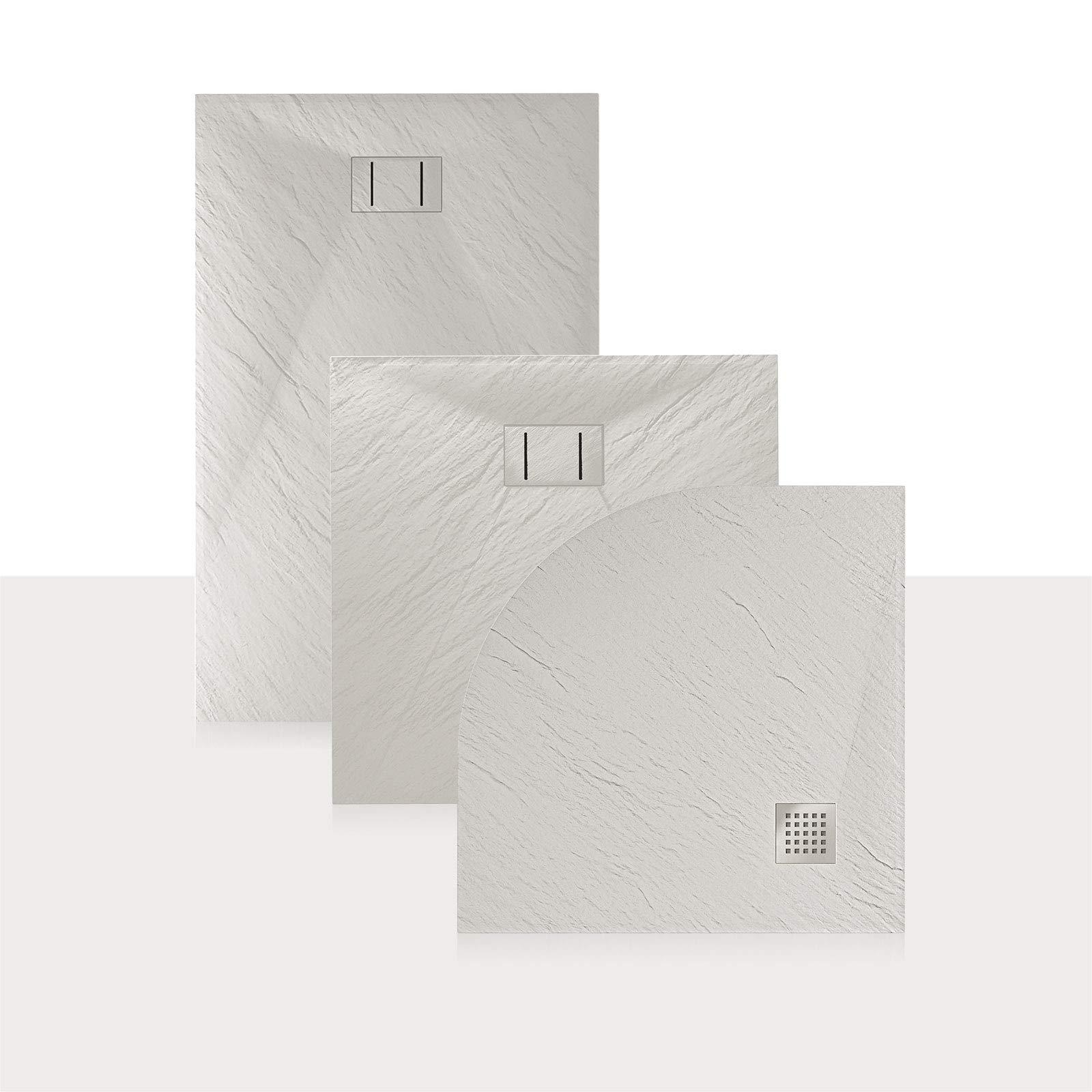 Idralite Plato de Ducha 90x170x2,6 CM Rectangular Blanco Efecto ...