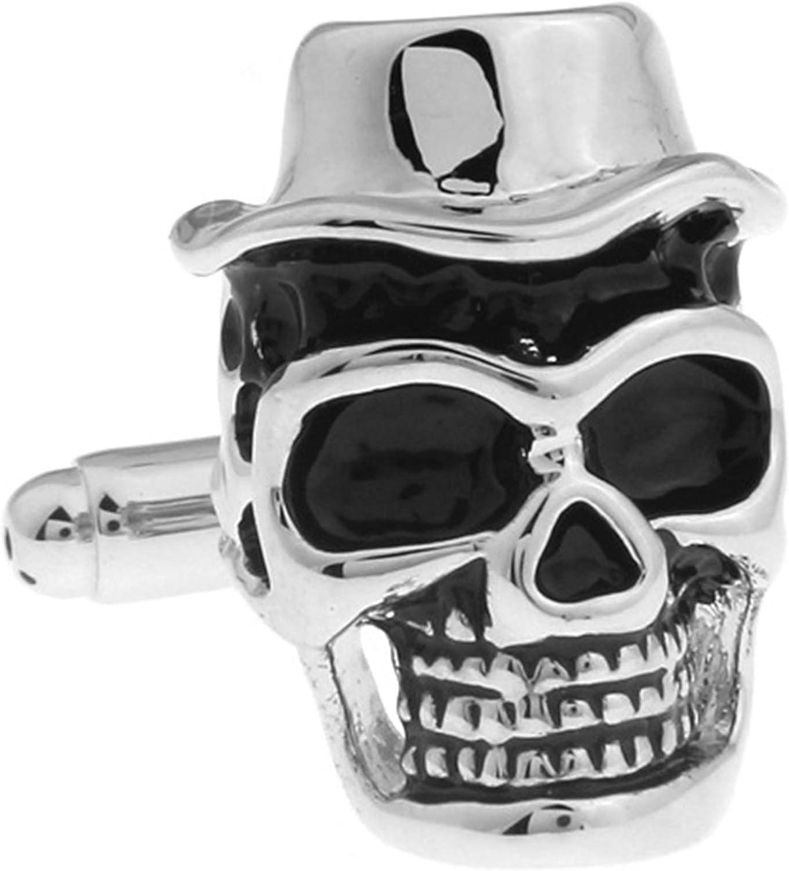 Daesar Cuff Link and Stud Set Cufflink Shirts for Men Skull Head Cufflinks Box for Men
