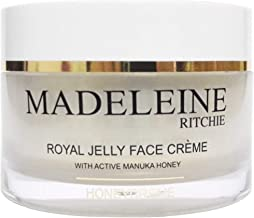 Madeleine Ritchie HoneyCreme New Zealand Royal Jelly Face Cream with active manuka honey 3.4 fl.oz jar. Original, Authentic & Natural anti-aging cream.
