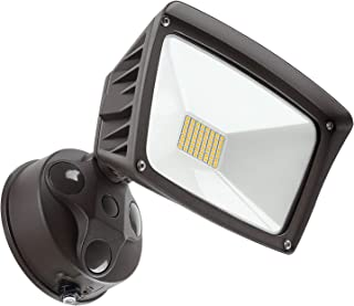 LEONLITE LED Outdoor Flood Light, Dusk-to-Dawn (Photocell Included), 3400lm, Waterproof Security Floodlight, 28W (220W Eqv.), DLC and ETL-Listed Exterior Lighting for Yard, 5000K Daylight